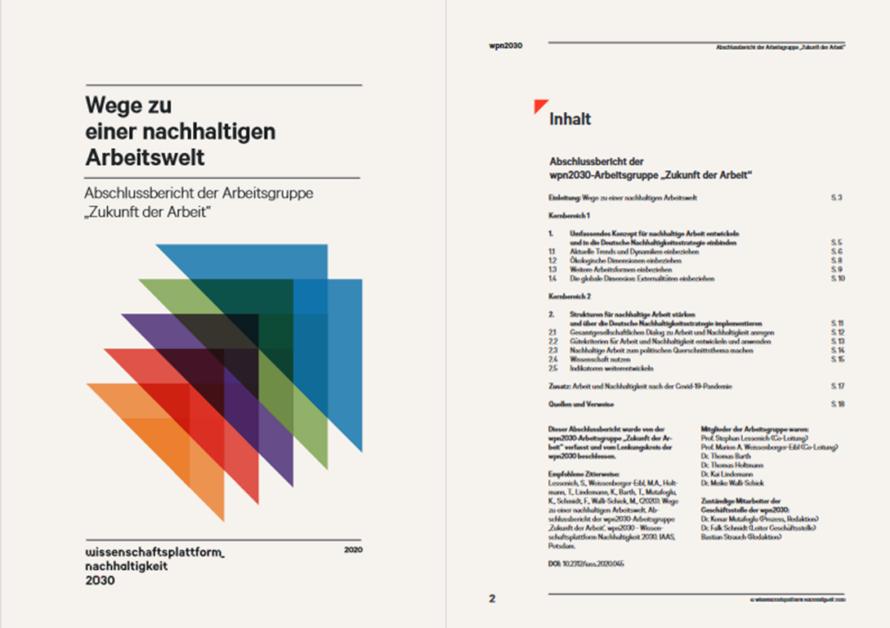 """Ergebnispapier der AG """"Zukunft der Arbeit"""""""